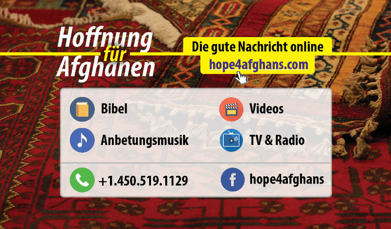 Hope4Afghans cards - 200 German/Dari